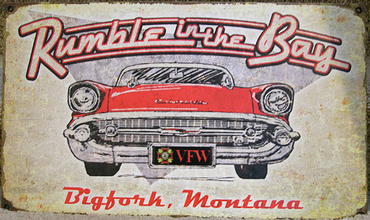 Montana Made Vintage Metal Sign $66 includes shipping & handling