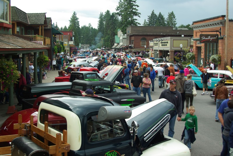 Bigfork during the Rumble in the Bay Car Show.